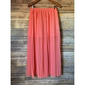 Victoria's Secret Pleated Maxi Skirt
